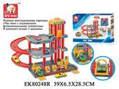 Гараж EK80248R с машинками в коробке 39*28,5*6,5см