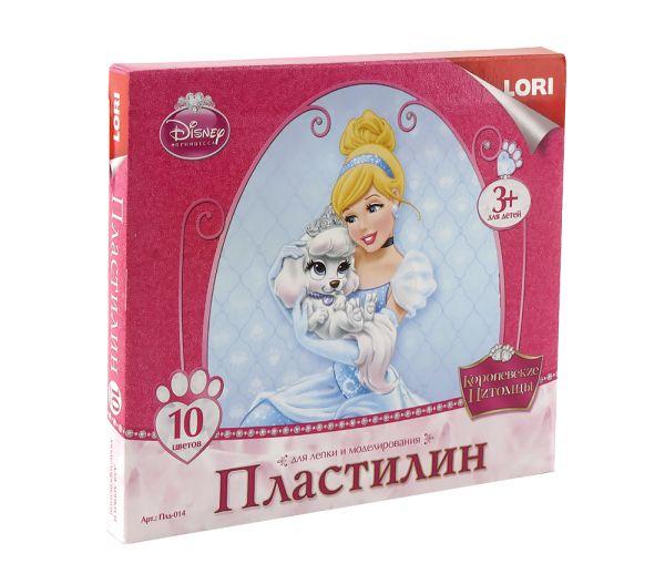 """Пластилин Disney """"Королевские питомцы"""" 10 цветов, без европодвеса"""