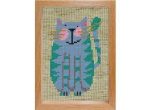 Наборы для вышивания с рамкой. Весёлый котик (105-EF)