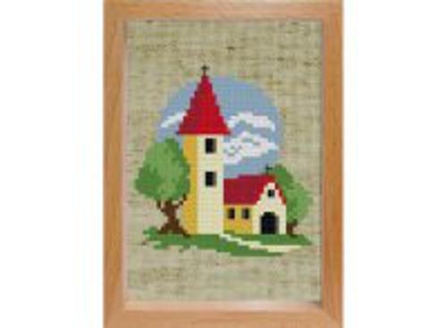 Наборы для вышивания с рамкой. Маленькая церковь (106-EF)