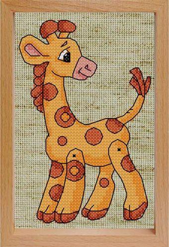Набор для хобби и творчества Наборы для вышивания с рамкой. Жираф (200-EF)
