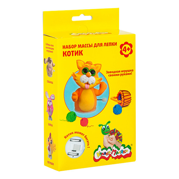 Набор массы для лепки КОТИК заводная игрушка