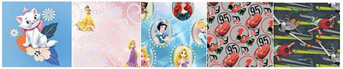 UN15-WDR1-710 Упаковочная бумага Disney,  70 х 100 см, рулон в термоусадочной пленке, Упак. 50 шт./ коробка-дисплей, (5 дизайнов в ассортименте).