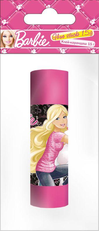 BRAB-US1-15G-H1 Клеящий карандаш 15 г, Упаковка - ПП-пакет, 4+0, с европодвесом. Размер 14,5 х 6,5 х 2,5 см, упак. 24/144 шт.Barbie