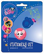 LTPS-11S-220-BL Набор канц. в блистере: точилка, ластик Littlest Pet Shop