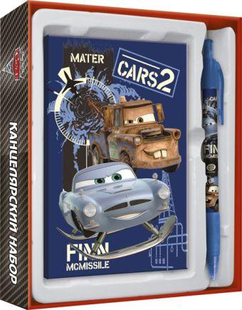 CRS2R-12S-340 Набор канцелярский в подарочной коробке: ноутбук 7БЦ , ручка автоматическая.Cars