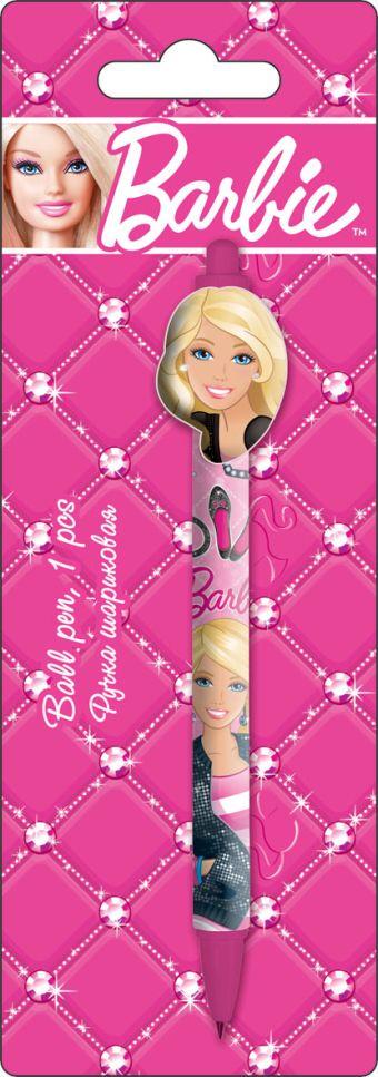 BRAB-US1-122-BL1 Ручка шариковая с фигурным клипом в блистере. Barbie