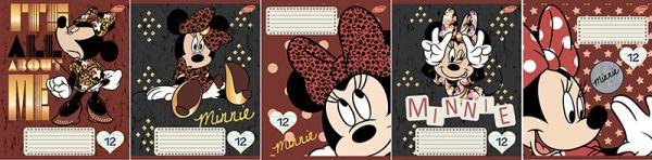 Тетр 12л скр А5 лин карт D3516/5-EAC УФ лак Minnie Mouse