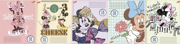 Тетр 18л скр А5 лин карт D3518/5-EAC твин УФ Minnie Mouse
