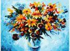 Набор для хобби и творчества Живопись на холсте 30*40 см. Разноцветные ромашки (012-AS)