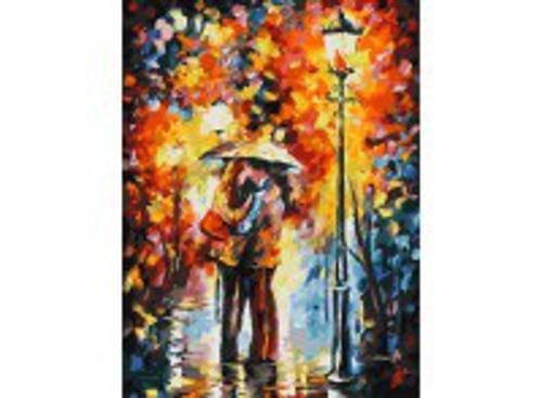 Живопись на холсте 30*40 см. Поцелуй под дождем (029-AS)