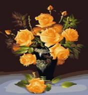 Живопись на холсте 40*50 см. Букет желтых роз (078-CG)