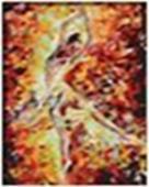 Живопись на цветном холсте 40*50. Огонь свечи (805-АВ-C)