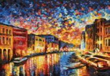 Живопись на цветном холсте 40*50. Гранд-Канал Венеция (871-AB-C)