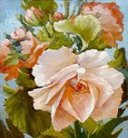 Живопись на цветном холсте 40*50. Роза (889-АВ-C)