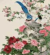 Живопись на цветном холсте 40*50. Райские птицы (906-AB-C)