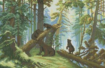 Мозаичные картины. Утро в сосновом лесу (094-ST)