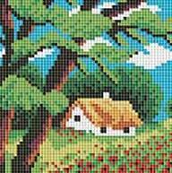 Мозаичные картины. Летний домик (118-ST)