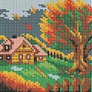 Мозаичные картины. Осенний домик (125-ST)