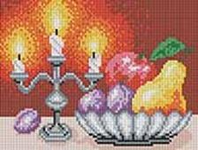 Мозаичные картины. Натюрморт со свечами (195-ST)