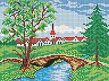 Мозаичные картины. Летний мостик (198-ST)