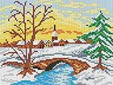 Мозаичные картины. Зимний мостик (200-ST)