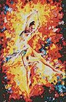 Мозаичные картины. Огонь свечи (225-ST)