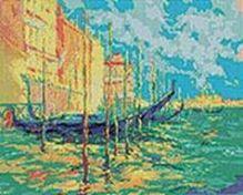 Мозаичные картины. Стоянка гондол. Венеция (233-ST)