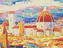 Мозаичные картины. Дождь над Флоренцией (241-ST)