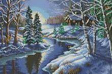 Наборы для вышивания. Зимняя речка (1008-14)
