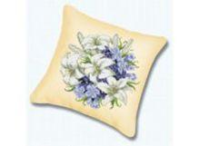 Наборы для вышивания. Подушка Лилии (канва бежевая) (010)