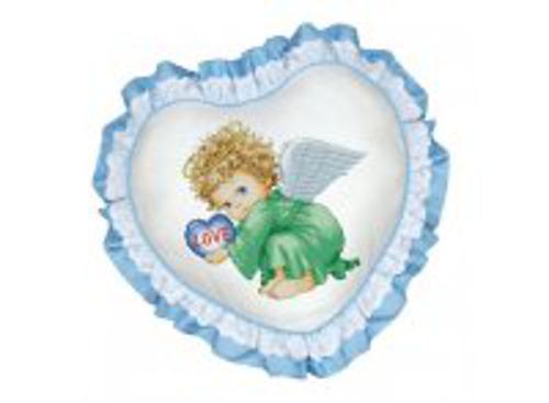 Набор для хобби и творчества Наборы для вышивания. Подушка Милый ангел (рюшка голубая) (501)
