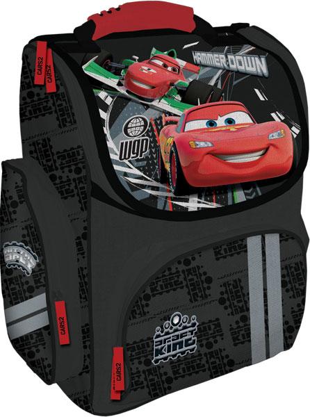 Рюкзак, спинка - толстый поролон, усиление пластиком, жесткие боковые стороны33х25х13 см Cars