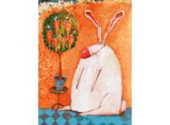Живопись на холсте 30*40 см. Счастливый кролик (753-AS)
