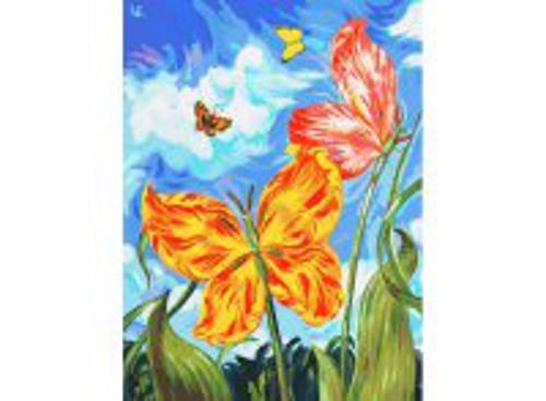 Живопись на холсте 30*40 см. Бабочки (755-AS)
