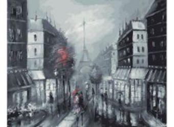 Живопись на холсте 40*50 см. Париж (032-AB)