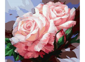 Набор для хобби и творчества Живопись на холсте 40*50 см. Нежные розы (058-CG)