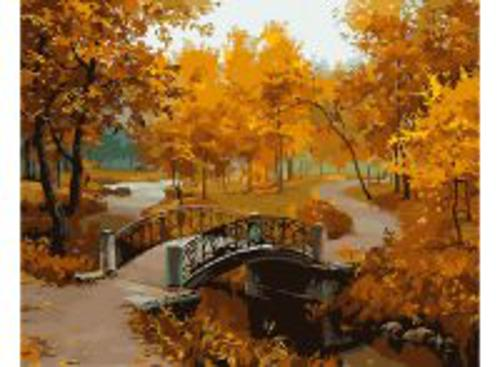 Живопись на холсте 40*50 см. Осенний парк (527-CG)
