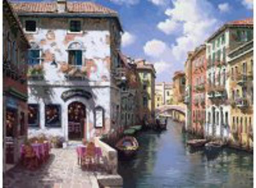 Живопись на холсте 40*50 см. Венецианские дома (631-AB)