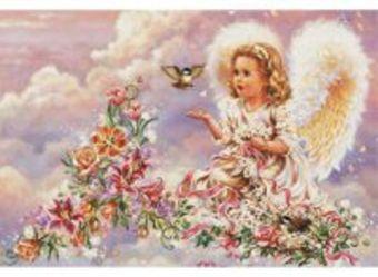 Наборы для вышивания 14ст. Серебристый ангел (4002-14)