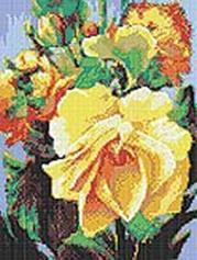 Стразы на подрамнике. Роза (609-RS-R)