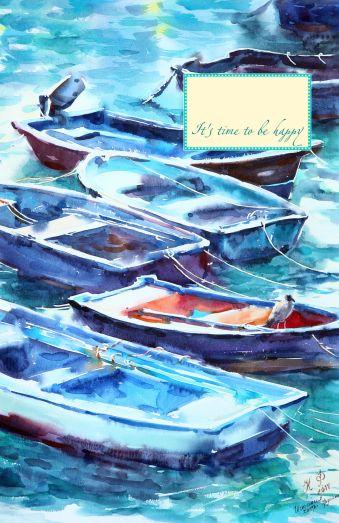 Блокнот. Лодки. Кастро Урдиалес (А5)