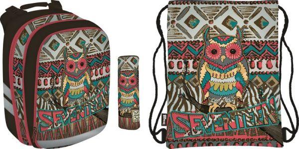 Набор школьника.Рюкзак эргономичный. Пенал для канцелярских принадлежностей. Сумка-рюкзак для обуви. Состав набора: SKCB-UT2-755 SKCB-UT2-429S SKCB-UT
