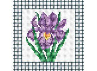 Мозаичные картины . Фиолетовый ирис (034-ST-P)