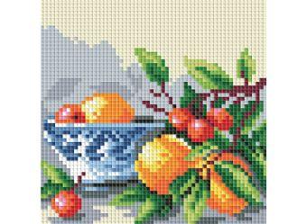 Мозаичные картины . Абрикосы и вишня (044-ST-P)