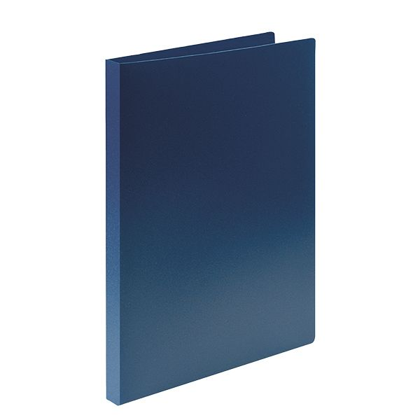 Папка с прижимами LITE А4 синий пластик 500 мкм