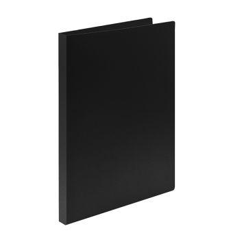 Папка с прижимами LITE А4 черный пластик 500 мкм