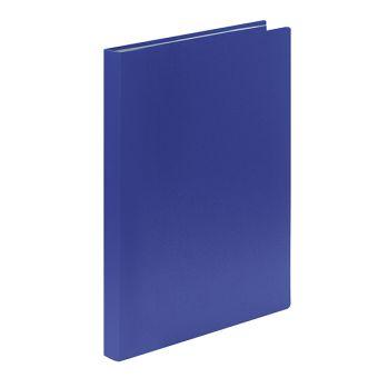 Папка с 40 файлами LITE А4 синий пластик 500 мкм