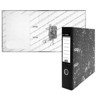 Папка-регистратор inФОРМАТ А4 мрамор картон 75 мм съемн. мех.