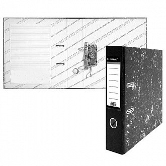 Папка-регистратор inФОРМАТ А4 мрамор картон 55 мм съемн. мех.